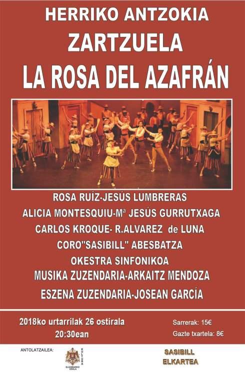 CARTEL LA ROSA DEL AZAFRAN